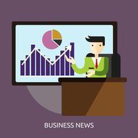 Ilustração conceitual de notícias de negócios Design vetor