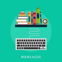 Livros e teclado ilustração conceitual Design vetor