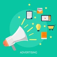 Publicidade ilustração conceitual Design vetor