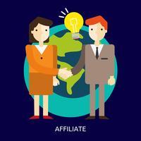 projeto de ilustração conceitual de afiliado vetor
