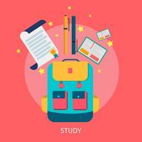 Ilustração conceitual de estudo Design vetor