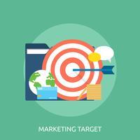 Ilustração conceitual de alvo de marketing Design vetor