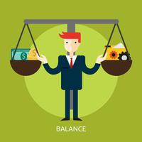 Ilustração conceitual de equilíbrio Design vetor