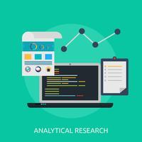 Ilustração conceitual de pesquisa analítica Design