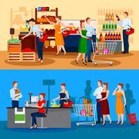 Clientes de composições de supermercado vetor
