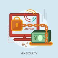 projeto de ilustração conceitual de segurança de ienes vetor