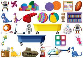 Conjunto de brinquedo de crianças vetor