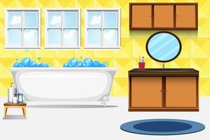 Um, banheiro, interior, fundo vetor