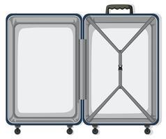 Uma bagagem de viagem vazia