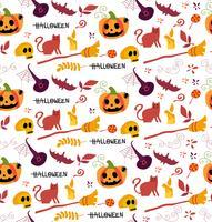 padrão de halloween bonito sem costura para plano de fundo