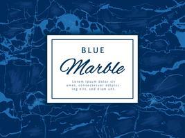 Fundo de vetor de mármore azul profundo com Banner