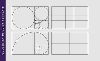Modelo de Design de vetor de proporção áurea