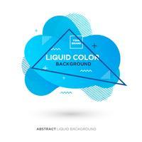 Banner de cor Coral líquido vida abstrata com quadro de linha e logotipo de colocação de marca
