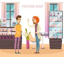 Composição da Loja de Perfumes vetor