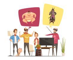 Conceito de Design de Hobbies de família vetor