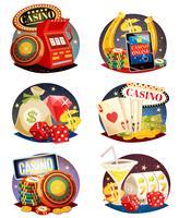 Conjunto de composições decorativas de casino
