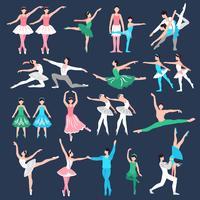 Conjunto de dançarinos de balé