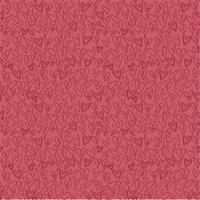 padrão de coração desenhado mão sem emenda sobre fundo vermelho vetor