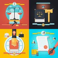 Conjunto de Composição Jurídica vetor