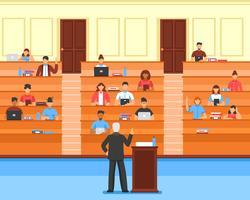composição da sala de conferências da audiência vetor