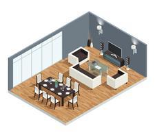Conceito de sala de jantar vetor
