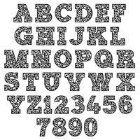alfabeto de caderno de composição vetor