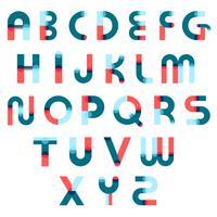 Conjunto de construtores de alfabeto de Memphis vetor