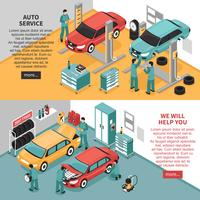 Banners de Auto Service vetor