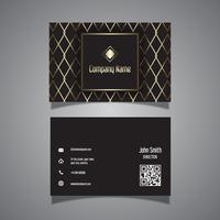 Design elegante cartão de visita com padrão ouro vetor