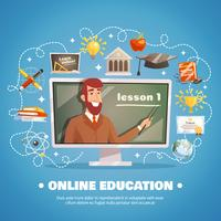 Conceito de Design de educação on-line vetor