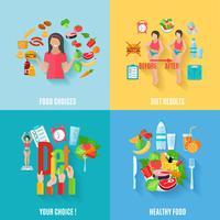 Dieta saudável vetor