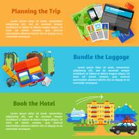 Banners de viagens de férias de verão