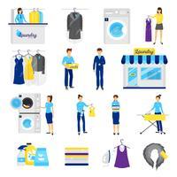 Conjunto de serviço de lavanderia