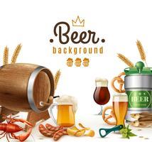 Fundo de cerveja realista vetor