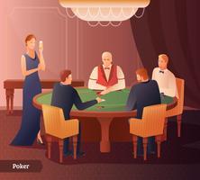 Casino e ilustração de poker