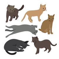 design de coleção de vetores de gato