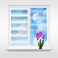 Conceito de Design de janela em casa vetor