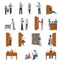 Conjunto de ícones de biblioteca