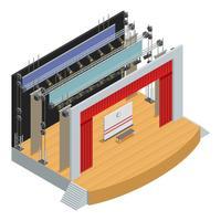 Cartaz isométrico do palco do teatro