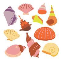 projeto de coleção de vetor de shell