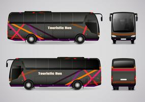 Ônibus turístico de todos os lados vetor