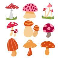 projeto de coleção de vetor de cogumelo
