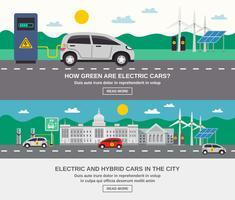 Cidade de carro elétrico 2 Banners plana