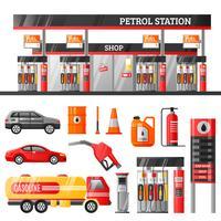 Conceito de design de posto de gasolina