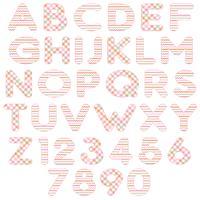 alfabeto laranja rosa vetor