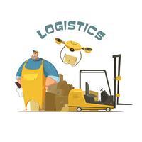 Ilustração do conceito de logística vetor