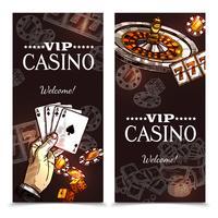 Banners verticais do esboço do casino