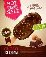 Ilustração de venda verão sorvete vetor