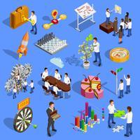 Conjunto de ícones de estratégia de negócios vetor