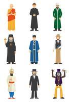 Religião Confissão Pessoas vetor